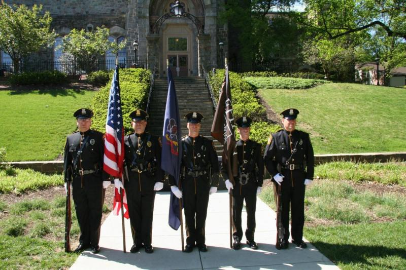 photo of lupd honor guard