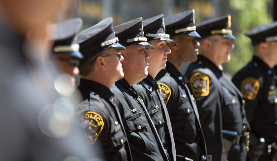 photo of officers lined up at attention